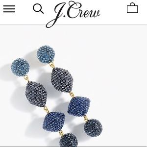 J crew Pave' Resin earrings